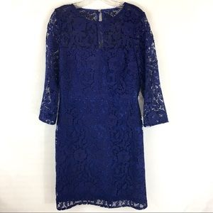 JCREW FLORAL LACE SHIFT DRESS 10